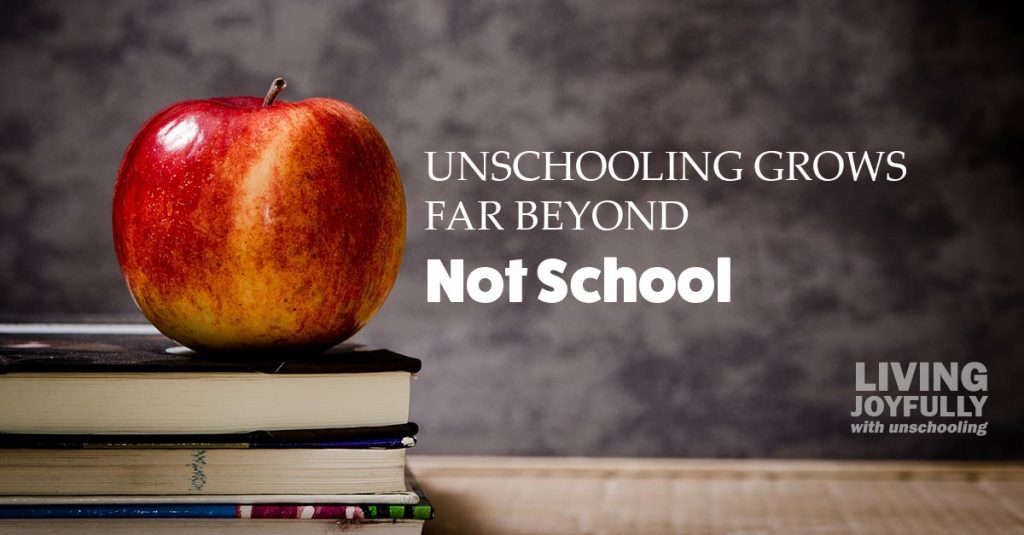 "unschooling grows far beyond ""not school"""