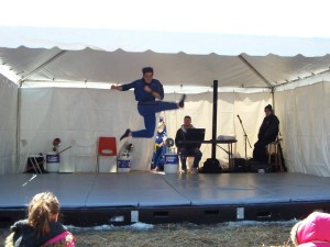 Performing with TMA's demo team at the local Maple Syrup Festival.