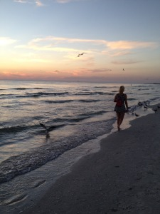 Lissy and a Florida sunset.