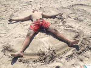 Can you really be too old for sand angels?