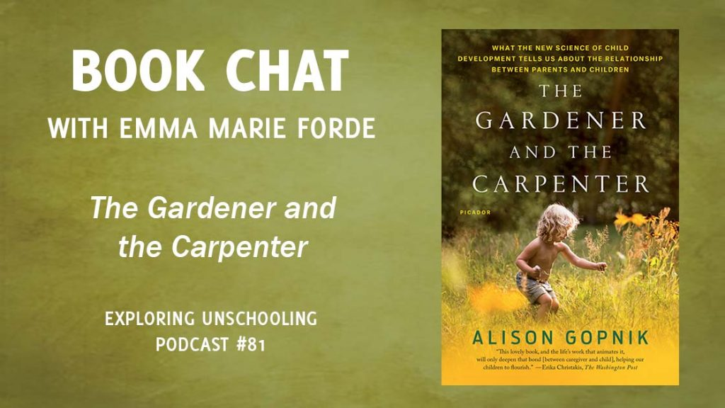 Emma joins Pam to chat about the book The Gardener and the Carpenter.