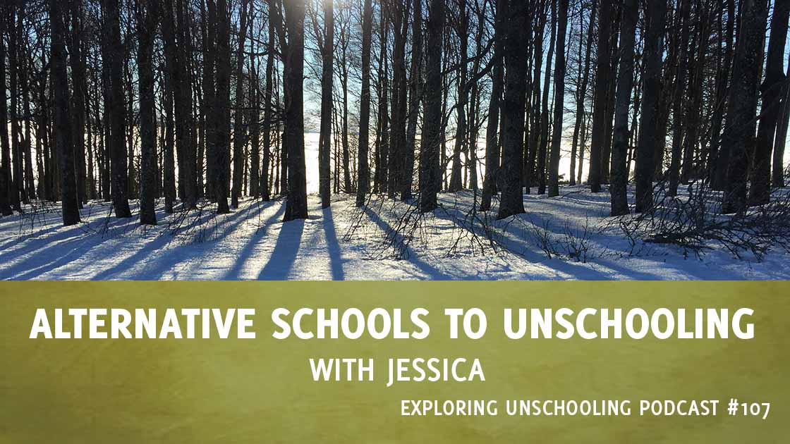 Jessica joins Pam to share her journey with her son from alternative schools to unschooling.