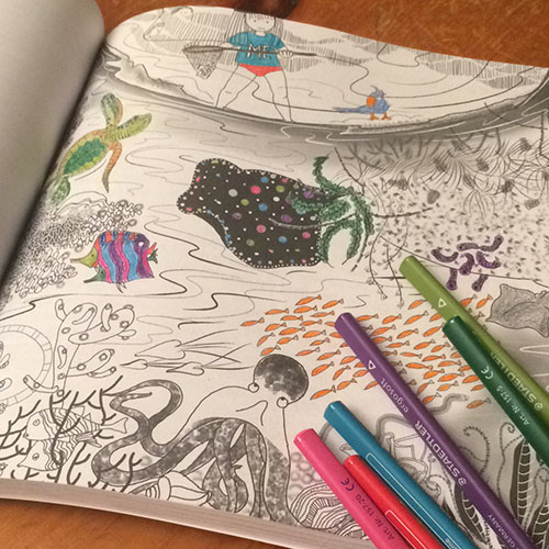 The Unschooling Journey illustrations as coloring pages.