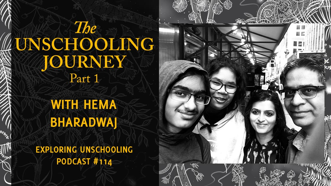Hema Bharadwaj joins Pam to talk about her illustrations for Pam's book, The Unschooling Journey.