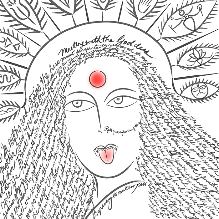 Kali and the nature of time by Hema Bharadwaj.